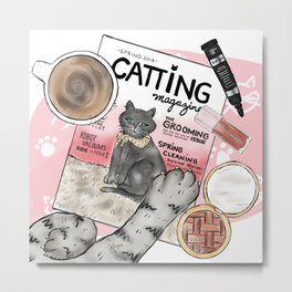 Monday Morning Essentials - featuring Catting Magazine, Spring 2018 Metal Print