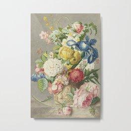 Cornelis Ploos van Amstel, after Jan van Huysum - Flower arrangement (1778) Metal Print