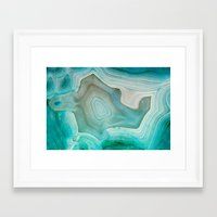 green Framed Art Prints featuring THE BEAUTY OF MINERALS 2 by Catspaws