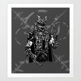 Samurai Punk Art Print