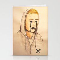 inner demons Stationery Cards featuring Demons by Kurt Schawacker