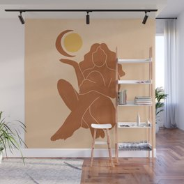 The Sun, The Moon and a Woman Wall Mural