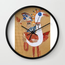Birds collage Wall Clock