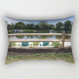 Sunny Lake Beach Rectangular Pillow