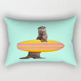 SURFING OTTER Rectangular Pillow