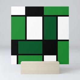Green Mondrian Mini Art Print