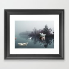 paperboats Framed Art Print