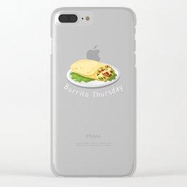 Burrito Thursday   Funny Burrito Clear iPhone Case