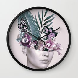Tropical Girl 3 Wall Clock