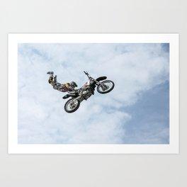 Motocross High Flying Jump Art Print