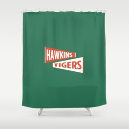 Hawkins High Tigers Shower Curtain