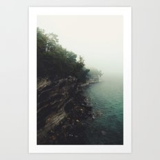 Pictured Rocks Falls Art Print