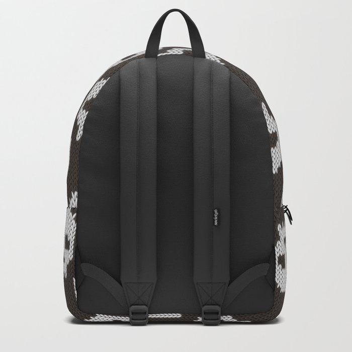 Knitted skull pattern Backpack