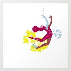 Woman blob Art Print