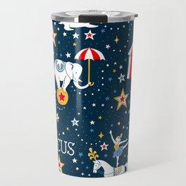 Retro Circus pattern Travel Mug