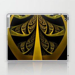 Gold-Leafed Foil Fractal Latticework for LUX VOIR Laptop & iPad Skin