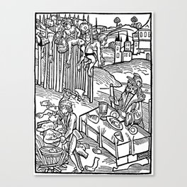 Vlad the Impaler and his victims Canvas Print