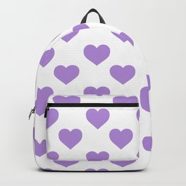 Hearts (Lavender & White Pattern) Backpack