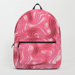 Rose Liquid Plastic Surface Backpack