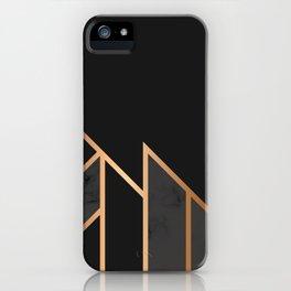 Black & Gold 035 iPhone Case