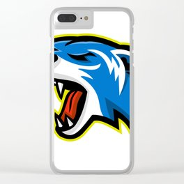 Angry Polecat Mascot Clear iPhone Case