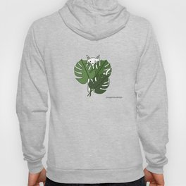 Cat hidden in the palm leaves Hoody