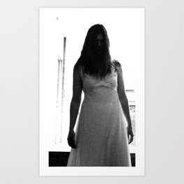 Lady in White (6 of 7) Art Print