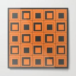 Orange Squares Metal Print