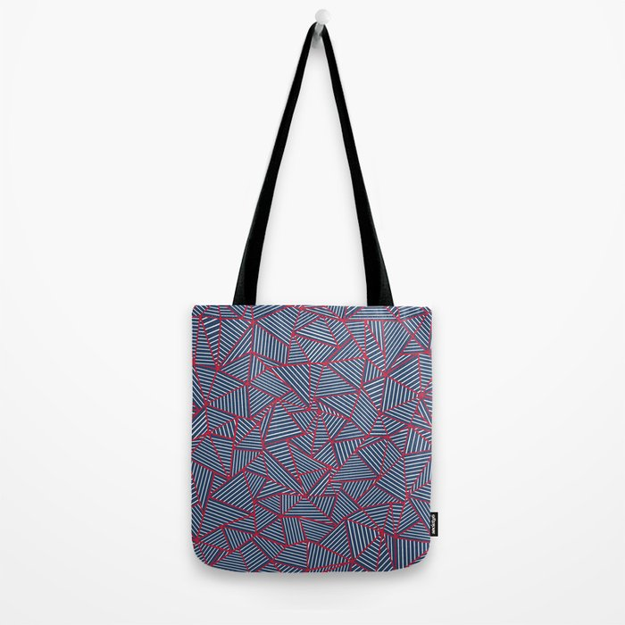 Ab Out Navy Red Tote Bag