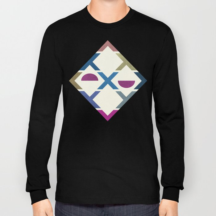Abstract Unique Pattern Long Sleeve T-shirt