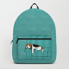 Happy Couch Beagle | Cute Sleeping Dog Backpack