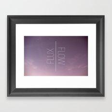 Flux & Flow Framed Art Print