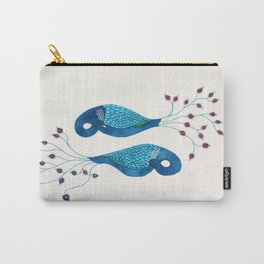 Twin Peacocks Carry-All Pouch