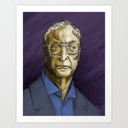 A Portrait of Michael Caine to Hang in Your Mansion Art Print