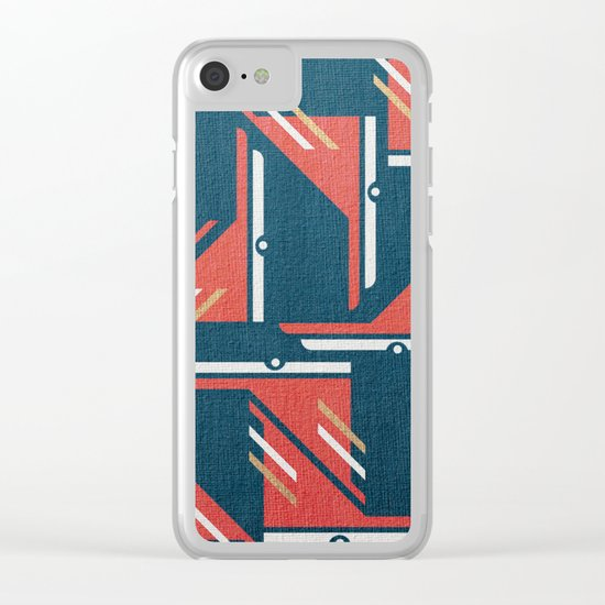 Crazy Birds in Harmony Clear iPhone Case