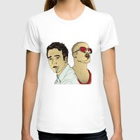 brad pitt T-shirts featuring Tyler Durden's... Ed Norton and Brad Pitt by Matty723