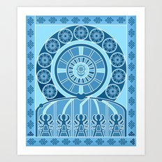 Eternal Blue Wheel Art Print