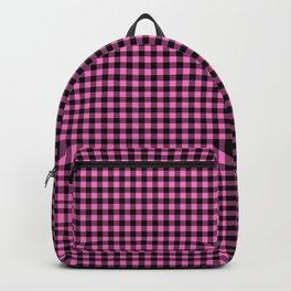 Mini Black and Pink Cowboy Buffalo Check Backpack