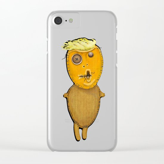 Orange Doll Clear iPhone Case