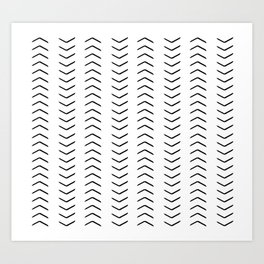 african mudcloth, chevron arrows Art Print