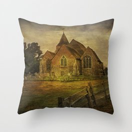 St Clement's Old Romney From The East Throw Pillow