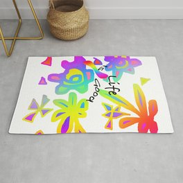 LIFE IS GOOD GRAPHIC DESIGN Rug