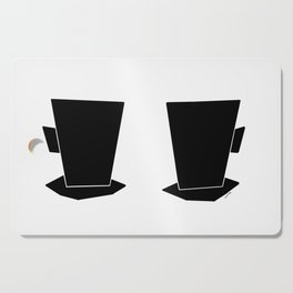 Coffee Illustration Kitchen Tea Cups Mugs Minimal Scandinavian Simple Modern Design Cutting Board