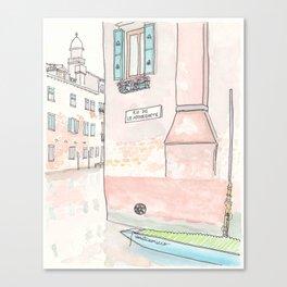 Venice Villa on Canal Muneghete  Canvas Print