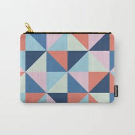 Abstract geometric pin wheal red blue Carry-All Pouch