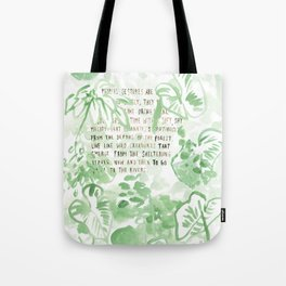"""""""Conquest of the Useless"""" by Werner Herzog Print (v. 2) Tote Bag"""