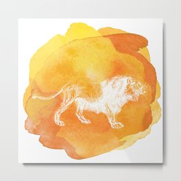 Color Spot Safari Lion Metal Print