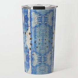 Blue Blotted Stars Travel Mug