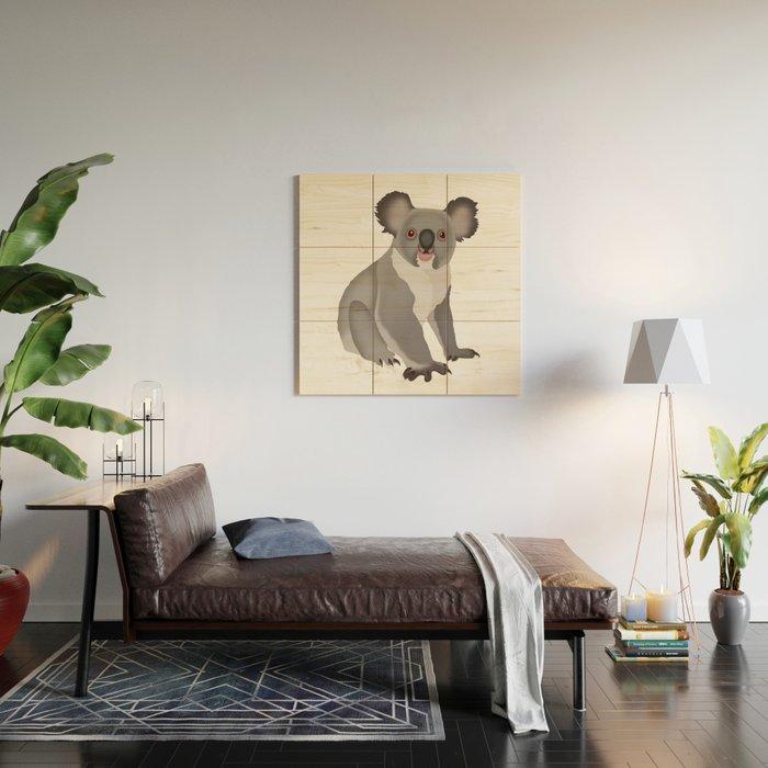 Koala Bear Wood Wall Art