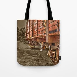 Road less traveled- old train Tote Bag